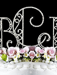 Недорогие -Украшения для торта Сад Монограмма Классическая пара Свадьба Годовщина День рождения Девичник Праздник совершеннолетия с Стразы