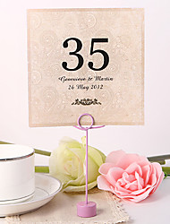cheap -Flower Material Pearl Paper Placecard Holders Table Number Cards Others Wedding Poly Bag