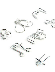 cheap -Metal Puzzle IQ Brain Teaser Metal Wire Puzzle 7 pcs Professional Level Speed Metalic For Kid's Adults' Boys' Girls' / 14 years+