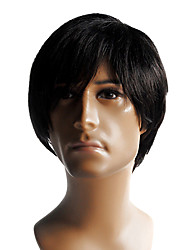 cheap -Capless High Quality Synthetic Short Straight Men's Wig