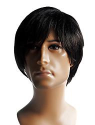 Недорогие -шапки высококачественных синтетических короткий прямой мужской парик