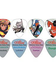 Недорогие -Алиса AP-r2 китайском стиле многоцветной целлулоид гитару берет 50-упаковке