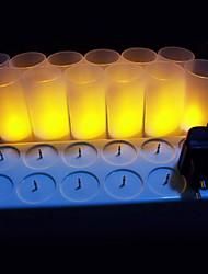 cheap -LED Candle Lights LEDs LED Rechargeable / Decorative 12pcs