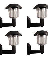 cheap -Set of 4 White  Fence Wall Mount Solar Lights High Quality Outdoor Lighting