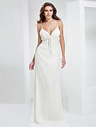 cheap -Sheath/Column Spaghetti Straps Sweetheart Floor-length Chiffon Evening/Prom Dress