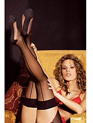 cheap -Women's Thin Stockings - Patchwork Black One-Size