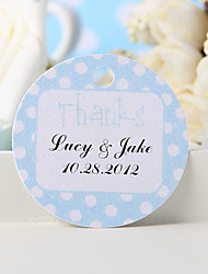 "cheap -Personalized Favor Tag - Blue ""Thanks"" (Set of 36) Wedding Favors"