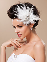 cheap -Tulle Fascinators / Headwear with Floral 1pc Wedding / Special Occasion / Horse Race Headpiece