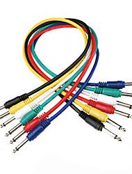 """Недорогие -DT аудиокабель кабель связи dc01 с 6pcs 1/4 """"моно +1 / 4"""" моно штекер в 0,6 метра"""
