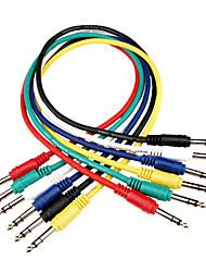 """Недорогие -DT аудиокабель кабель связи dc02 с 6pcs 1/4 """"стерео +1 / 4"""" стерео штекер в 0,6 метра"""