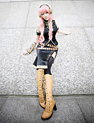 cheap -Inspired by Vocaloid Megurine Luka Video Game Cosplay Costumes Cosplay Suits Sleeveless Coat Dress Sleeves Costumes / Satin