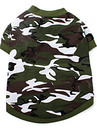 cheap -Cat Dog Shirt / T-Shirt Dog Clothes Camo / Camouflage Camouflage Color Cotton Costume For Spring &  Fall Summer Men's Women's Fashion