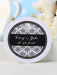 cheap -Personalized Favor Tag - Black Floral Print (Set of 36) Wedding Favors