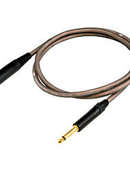 """cheap -DT Microphone Cable DME23 with 1/4"""" Mono+1/4"""" Jack(F) Plug in 3 meter"""
