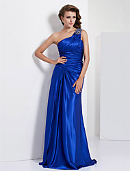 cheap -TS Couture Formal Evening / Prom / Military Ball Dress - Royal Blue Plus Sizes / Petite Sheath/Column One Shoulder Floor-length Charmeuse