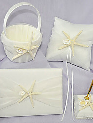 cheap -Beach Theme Collection Set 53 Starfish and Seashell / Ribbons Satin