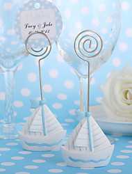 cheap -Sailing Boat Place Card Holder (Set of 4) Wedding Reception Beautiful