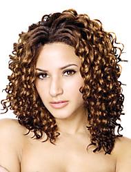 Недорогие -кружева перед давно высококачественных синтетических фигурными коричневые волосы парика