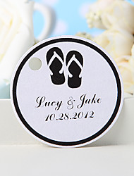 cheap -Personalized Favor Tag - Back Slippers (Set of 36) Wedding Favors