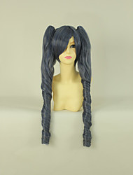 cheap -Black Butler Ciel Phantomhive Cosplay Wigs Women's 20 inch Heat Resistant Fiber Gray Anime