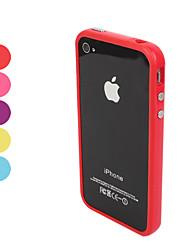Недорогие -Кейс для Назначение iPhone 4/4S / Apple iPhone 4s / 4 Бампер Мягкий ТПУ