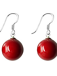 cheap -Women's Pearl Drop Earrings Ball Ladies Simple Basic Sweet Pearl Imitation Pearl Earrings Jewelry Red / Blue For Daily Wear Date 1pc