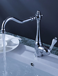 cheap -Kitchen faucet - One Hole Chrome Bar / Prep Deck Mounted Traditional Kitchen Taps / Single Handle One Hole