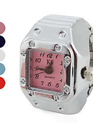 Недорогие -Жен. Часы-кольцо Квадратные часы Японский Кварцевый Серебристый металл Повседневные часы Дамы Винтаж Мода - Красный Синий Розовый Один год Срок службы батареи / SSUO SR626SW