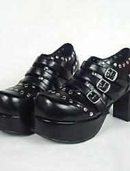 cheap -Women's Lolita Shoes Punk Lolita Lolita High Heel Shoes Solid Colored 8 cm PU Leather / Polyurethane Leather Polyurethane Leather Halloween Costumes