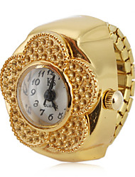 cheap -Women's Ring Watch Gold Watch Japanese Quartz Gold Casual Watch Analog Ladies Flower Fashion
