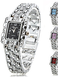 cheap -Women's Fashion Watch Bracelet Watch Quartz Alloy Band Analog Sparkle Elegant Silver - Purple Red Blue One Year Battery Life / Tianqiu 377
