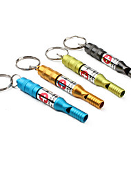 cheap -Survival Whistle Emergency Whistle Metal Hiking Random Colour