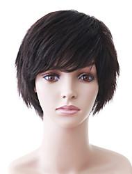 cheap -Capless Natural Look Short Black Wavy Human Hair Wig