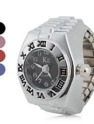 Недорогие -Жен. Часы-кольцо Японский Кварцевый Серебристый металл Повседневные часы Дамы Винтаж Мода - Красный Синий Розовый