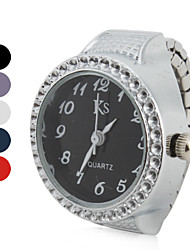 Недорогие -Жен. Часы-кольцо Японский Кварцевый Серебристый металл Повседневные часы Аналоговый Дамы Блестящие Мода - Лиловый Красный Синий Один год Срок службы батареи / SSUO LR626