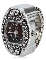 Недорогие -Жен. Часы-кольцо Квадратные часы Японский Кварцевый Серебристый металл Аналоговый Дамы Кулоны Один год Срок службы батареи / SSUO SR626SW