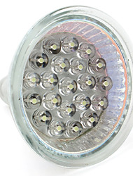 cheap -1pc 1 W LED Spotlight 60-80 lm GU10 GU5.3(MR16) MR16 21 LED Beads Dip LED Warm White White 12 V