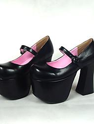 cheap -Women's Lolita Shoes Classic Lolita Lolita High Heel Shoes Solid Colored 12.5 cm Black PU Leather / Polyurethane Leather Polyurethane Leather Halloween Costumes