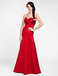 cheap -Princess / A-Line Sweetheart Neckline / Strapless Floor Length Satin Bridesmaid Dress with Sash / Ribbon / Criss Cross