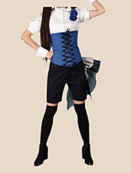 cheap -Inspired by Black Butler Ciel Phantomhive Anime Cosplay Costumes Japanese Cosplay Suits Patchwork Short Sleeve Shirt Bracelet Belt For Men's / Shorts / Hat / Bow / Bow / Shorts