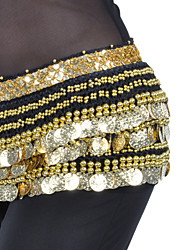 cheap -Belly Dance Belt Women's Training Polyester Coin / Beading Hip Scarf / Performance
