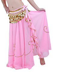 cheap -Belly Dance Skirt Women's Performance Chiffon Beading Dropped Skirt