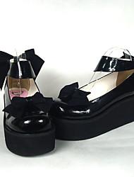 cheap -Women's Lolita Shoes Sweet Lolita High Heel Shoes Bowknot 6.5 cm PU Leather / Polyurethane Leather Polyurethane Leather Halloween Costumes / Princess
