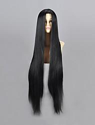 cheap -Naruto Haku Ha Cosplay Wigs Men's 40 inch Heat Resistant Fiber Black Anime