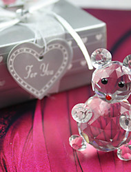 cheap -Gifts Bridesmaid Gift Lovely Crystal Bear Favor