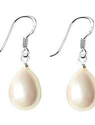 cheap -Women's Pearl Drop Earrings Drop Ladies Pearl Sterling Silver Imitation Pearl Earrings Jewelry White / Black / Pink For Daily / Shell / Pink Pearl / Black Pearl