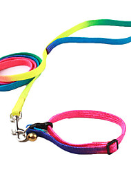 cheap -Dog Collar Leash Adjustable / Retractable With Bell Textile