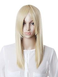 cheap -Capless High Quality Synthetic White Straight Hair Wig