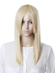 Недорогие -шапки высококачественных синтетических белый парик прямых волос
