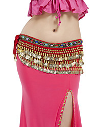 cheap -Belly Dance Belt Women's Performance Polyester Beading / Coin Hip Scarf